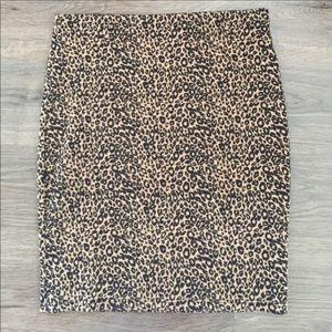 Brat Star Leopard Print Skirt